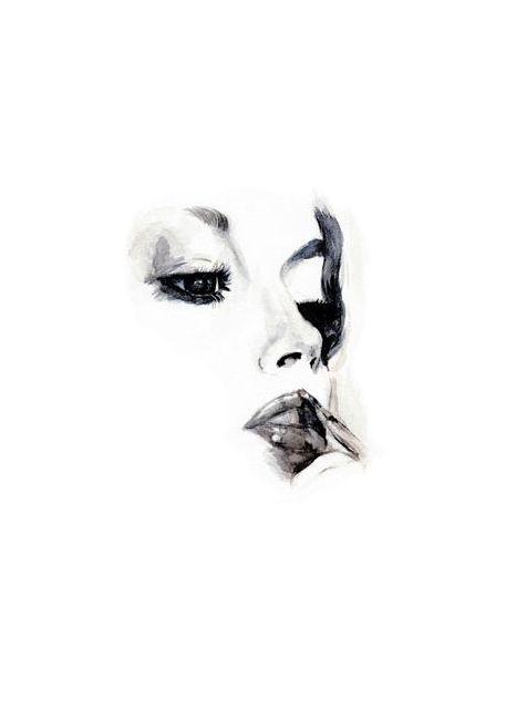 Minimalistic woman