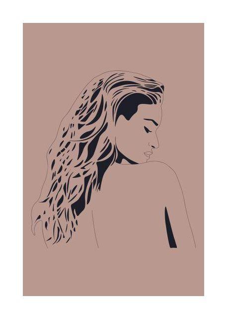 Naked Woman Print