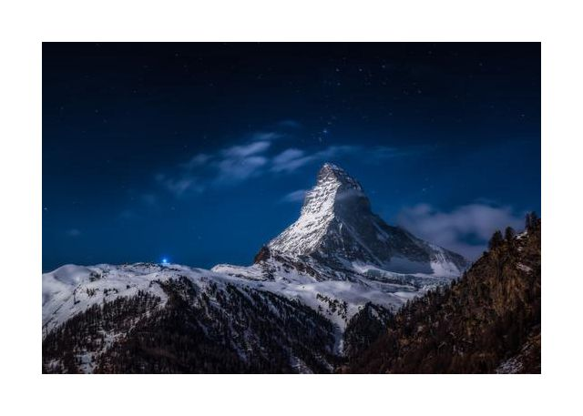Full moon at Matterhorn