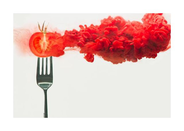 Disintegrated tomato